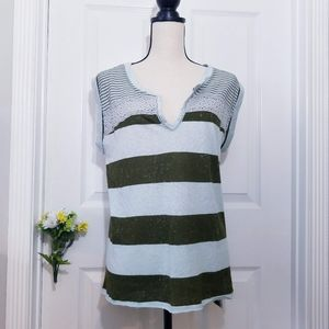 Free People Striped Sleeveless Top Size Small